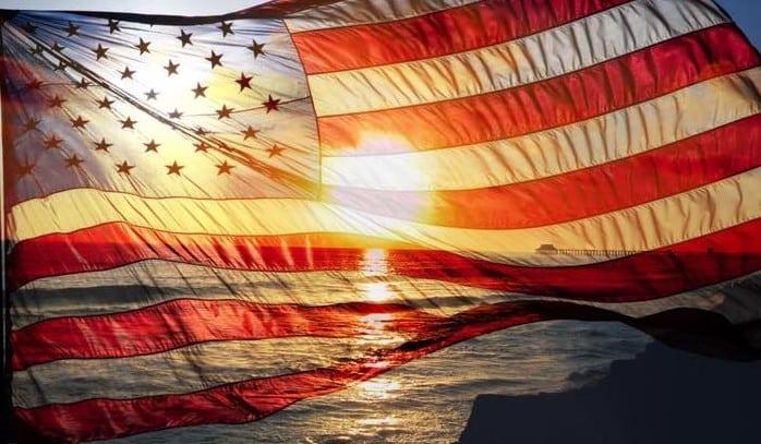 american flag in seacoast nh